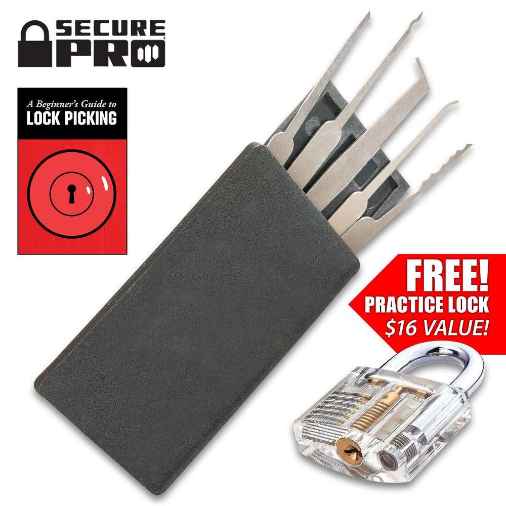 Credit Card Lock Pick Set: Secure Pro Credit Card-Sized Lock Picking Set And FREE