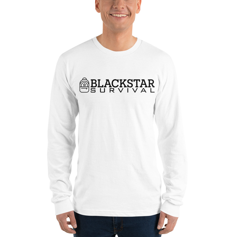 BlackStar Survival Logo Long sleeve t-shirt