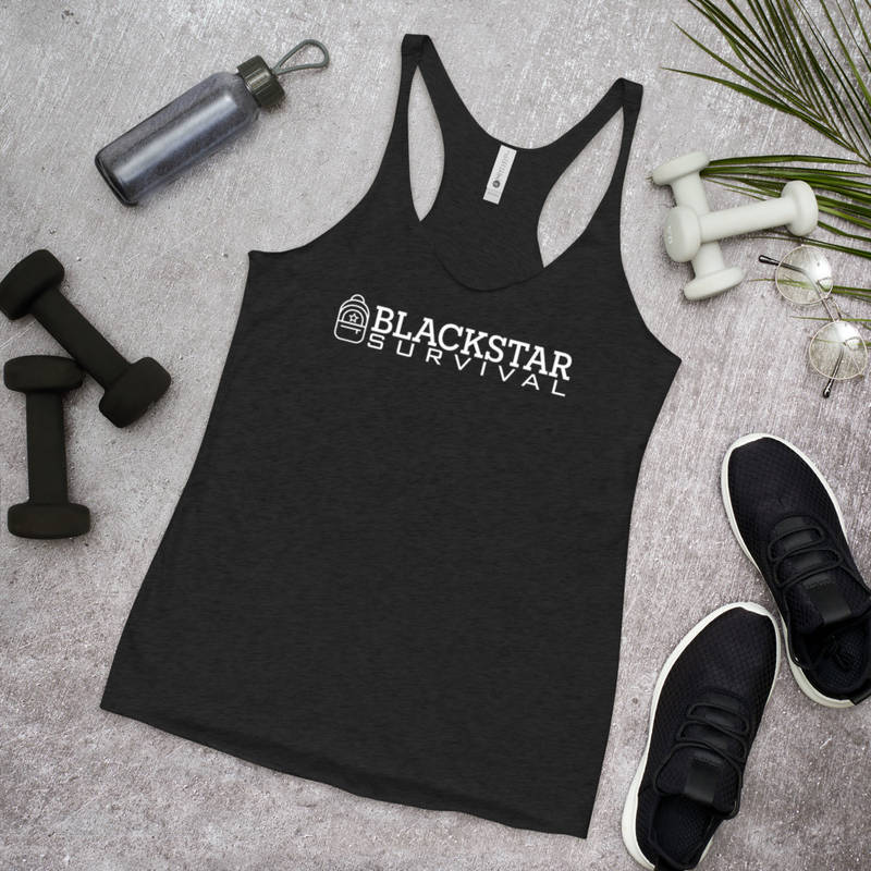 BlackStar Survival Logo Women's Racerback Tank