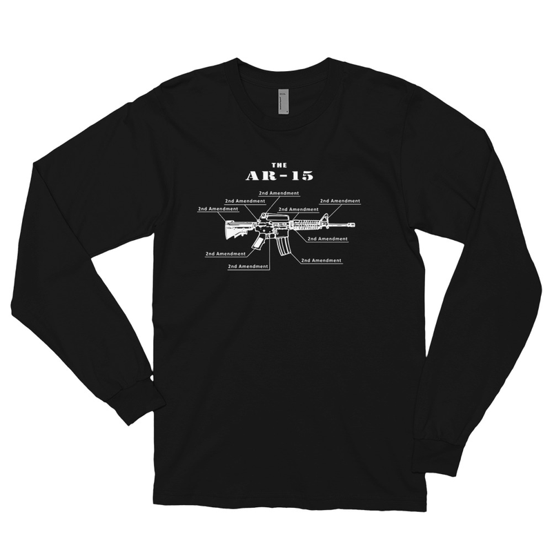 2nd Amendment AR Long sleeve t-shirt - Black