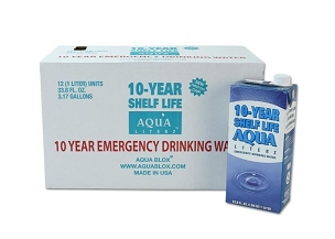 Aqua Literz 10 Year Shelf Life Emergency Drinking Water -1000 ML 12 Unit Case