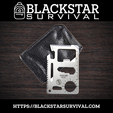 11-in-1 Multi-Function Wallet Survival Tool