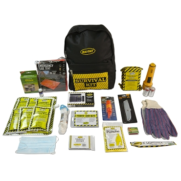 Deluxe Survival Backpack Kit - 1 Person Kit
