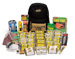 Deluxe Survival Backpack Kit - 2 Person Kit