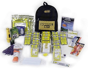 Deluxe Survival Backpack Kit - 4 Person Kit