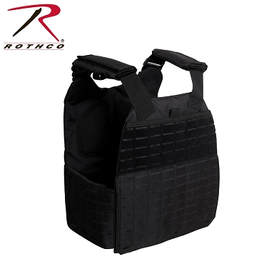Rothco Laser Cut MOLLE Plate Carrier Vest - Black