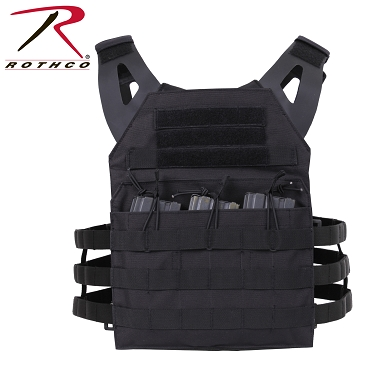 Rothco Lightweight Plate Carrier Vest - Black