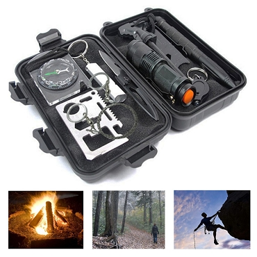 10 in 1 Survival Tool Box - Weatherproof TPU Case
