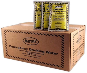 Emergency Drinking Water Pouch - Case of 100