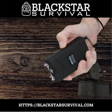 Night Watchman 2 1/2 Million-Volt Stun Gun - Black - BlackStar Survival