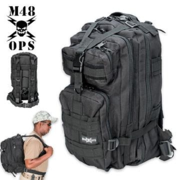 M48 OPS Tactical Assault Backpack - Black