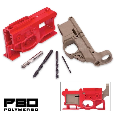 AR15 80% Lower Receiver & Jig Kit - Polymer80 - Dark Earth