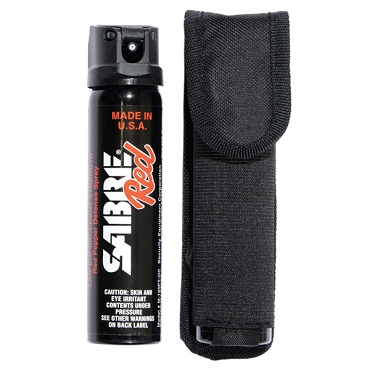 Magnum 120 Pepper Spray with Flip Top & Belt Holster
