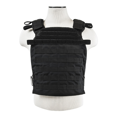 MOLLE Modular ESAPI Fast Sentry Tactical Lightweight Plate Carrier Vest L - XXL Black