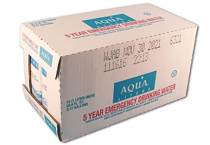 Aqua Literz Emergency Drinking Water - 1 Liter - Case of 12