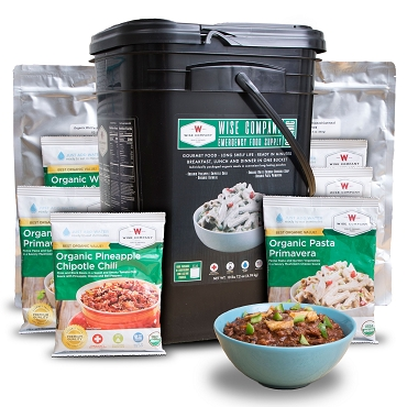 90 Serving - Organic Emergency Freeze Dried Food Bucket