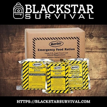Mayday 2400 Calorie Food Bars - BlackStar Survival