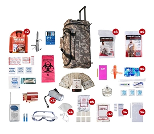4 Person Deluxe Survival Kit (72+ Hours) - BlackStar Survival