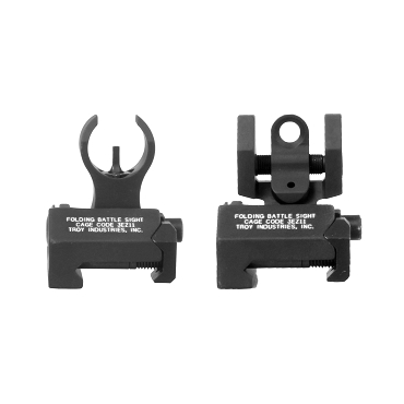Troy BattleSight Micro Front and Rear Sight -  Picatinny Mount - Black