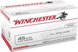 Winchester 45 ACP 230 gr Value Pack 100 rounds