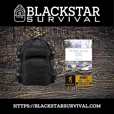 Tactical Backpack - Various Colors - with Browning - 9mm - 124 Grain - FMJ - 150 Rounds - W/ Free Survival Guide