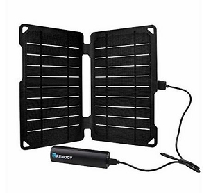 10 Watt Monocrystalline Portable Solar Panel with 5000 mAh Power Bank