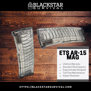 Elite Tactical Systems AR15 Magazine - 30 round .223/5.56 NATO - Smoke
