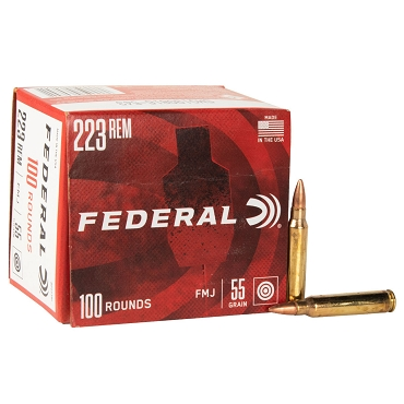 Federal Ammunition - 223 REM - 55 Grain - FMJ - 100 Rounds