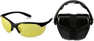 Eye and Ear Protection Muff - Black
