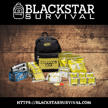 Economy Survival Backpack Kit - 1 Person Kit - BlackStar Survival