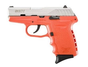 SCCY CPX-2 9MM 3.1 in. Barrel 10 Rds 2-Mags Pistol - Orange & Stainless Steel