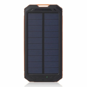 20,000 MAH Solar Charger And Power Bank With Flashlight