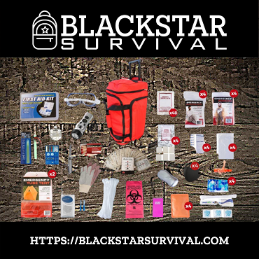 4 Person Platinum Survival Kit (72+ Hours) - BlackStar Survival
