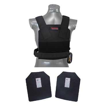 Level III / AR500 Body Armor Concealed Bobcat Vest - Base Coated Plates