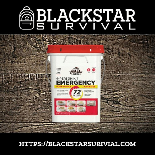 72-Hour 4-Person Emergency Food Supply Kit - 176 Servings