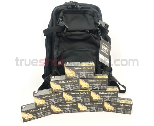 Glock Backpack - Black - with Sellier & Bellot - 45 ACP - 230 Grain - FMJ - 500 Rounds